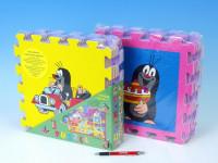 Penové puzzle Krtko 30x30 cm, 8ks auto