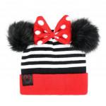 Čiapka s brmbolcami a mašľou Disney Minnie