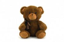 Medveď / medvedík s mašľou plyš 40cm - mix farieb