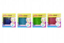 Hmota / plastelína 170g inteligentný trblietavá glitter 8cm v plastovej krabičke - mix farieb