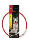 Obojok DOG FANTASY svetelný USB červený 65 cm 1ks