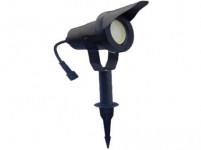 svietidlo LED 6,5 W, 520lm, MR20, IP67,3000K, teplé, Al ČER + tienidlo, zapichovací