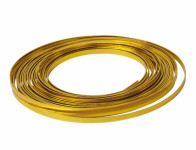 Drôt dekoračné hliníkový zlatý 10m 5mm
