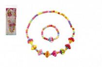 Náhrdelník a náramok korálky farebné plast 15cm - mix variantov či farieb