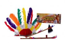 Indiánska sada - sekerka, čelenka, fajka