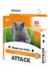 Attack obojok antiparazitárne 35cm mačka