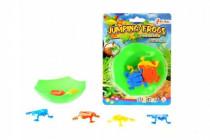 Žaby skákajúci mini hra plast na karte 12,5x17cm