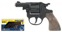 Policajné revolver kovový čierny 8 rán