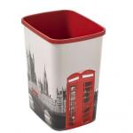 koš odpadkový 25l FLIP LONDON bez víka plastový