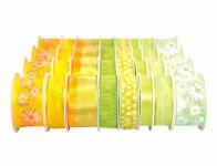 Stuha JARO dekorační na cívce mix žluto zelená