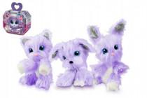 Zvířátko FUR BALLS plyš Touláček VIOLET pejsek/kočka/králík fialový s doplňky