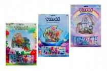 Vitráž kreatívne obrázok 13x13cm - mix variantov či farieb