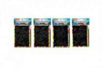 Škrabacie obrázok mini dúhový 9,5x12cm 4 druhy