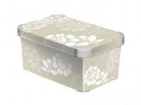 box úložný ROMANCE 29,5x19,5x13,5cm (S) s vekom, plastový