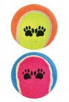 Hračka pes Lopta tenisový farebný s labkou 6,5cm TR