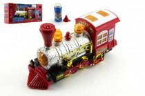 Lokomotiva/Vlak s bublifukem plast 27cm na baterie se zvukem se světlem