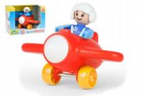 My First Racers letadlo + figurka plast 10cm 12m+