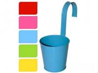 kvetináč dekoračné 13,5cm závesný plech - mix farieb