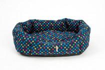 Pelech 8 hran textil Hvězda LUX modrá 45 cm