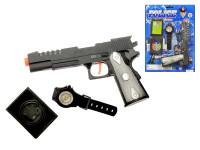 Sada policajný - pištole 20 cm Klapač + 2 doplnky