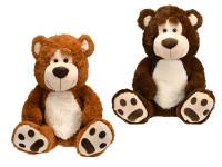 Medveď plyšový 67 cm sediaci - mix farieb