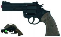 Policajné revolver čierny kovový 12 rán
