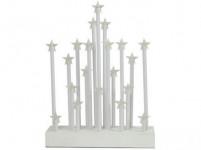 svietnik vianočné el.20 sviečok LED, hviezda, driev. BI, 22,3x29,5x5cm, d