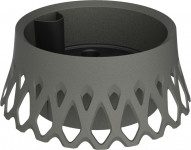 Plastia žardina samozavlažovací Roseta - anthracite  30 cm