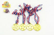 Medaila priemer 4cm 4ks plast