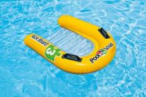 Plávacie doska lehátko nafukovacie s úchytkami 79x76cm - VÝPREDAJ