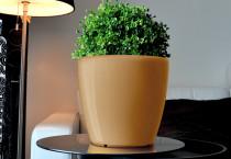 Samozavlažovací květináč GreenSun AQUAS průměr 22 cm, výška 21 cm, zlatý