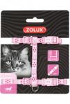 Postroj kočka ETHNIC nylon růžový Zolux