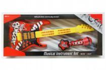 Kytara s mikrofonem plast 54cm na baterie se zvukem se světlem