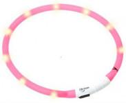 Obojok plast svietiace - ružový Flamingo 70 cm