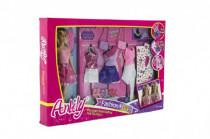 Bábika Anlily kĺbová 30cm s šaty a doplnky plast
