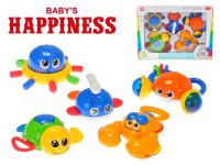 Sada hrkálok morská zvieratka 11-15 cm 5 ks Baby's Happiness