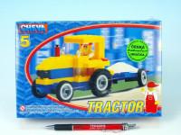 Stavebnica Cheva 5 Traktor s vlekom