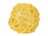Koule aranžovací ratanová žlutá 8cm