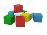 Kocky stavebné 7 cm farebné 10 ks vo fólii