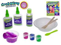 Sada na výrobu slizu Cra-z-Slimy neon + glitre s doplnkami