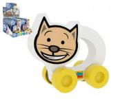 Moje první autíčko Kočička pěna 8,5x8cm na kartě 0+(lze mixovat s ostatními zvířátky)