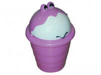 kôš odpadkový detský Jurášek výsuvný 20l guľatý plastový - mix farieb