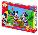 Puzzle 66 dílků Mickey Mouse na parníku