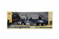 Auto RC vojenské nákladní plast 26cm na baterie se světlem