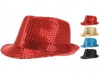 klobúk PÁRTY flitre - mix farieb