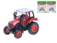 Traktor 9 cm kov zpětný chod - mix barev