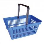 košík nákupné, 1 držadlo 44,5x30x21,5cm plastový, nosn.15kg - mix farieb