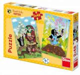 Puzzle Krtek na Mýtině 2x48 dílků