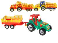 Traktor s vlekom Farmer 58 cm - mix farieb
