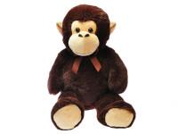 Opica plyšová 100 cm s mašľou